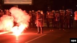 Демонстрация в Подгорице, 18 октября