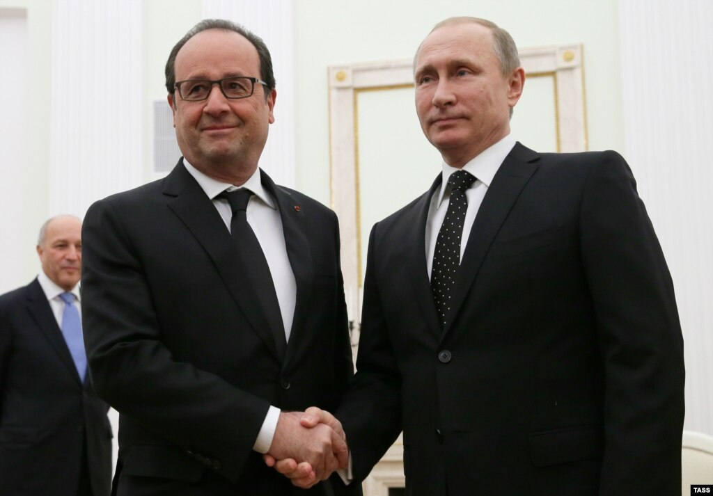 Олланд закликав Путіна створити «велику коаліцію» для боротьби з ІДІЛ