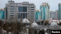 Вид на отель, в котором проводились мирные переговоры по Сирии. Астана, 23 января 2017 года.