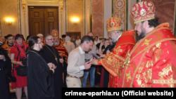 Александр Остапенко на церемонии вручения церковных наград за борьбу с коронавирусом, 2 мая 2021 года