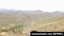 Nazi hills in Khost, Afghanistan where clashes erupted between Afghan and Pakistani forces on Sunday.