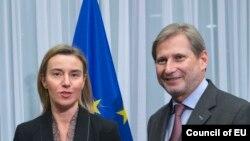 Federica Mogherini dhe Johannes Hahn