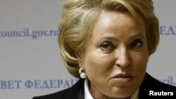 На снимке: председатель Совета Федерации России Валентина Матвиенко