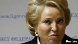 Спікер Ради Федерації Федеральних зборів Росії Валентина Матвієнко