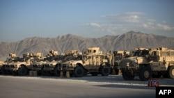 Баграмдағы АҚШ әскери әуе базасы. Ауғанстан. (Көрнекі сурет).