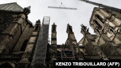 Lucrările de securizare a părții de sus a catedralei nu s-au încheiat