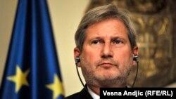 Архива: Еврокомесарот за проширување и соседска политика Јоханес Хан.