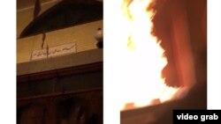 گفته شده که در مسجد علی بیابیطالب در تبریز به آتش کشیده شده