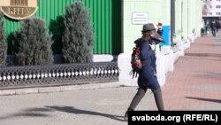 Каля БНТУ, у студэнта якога выявілі першы выпадак COVID-19 у Беларусі, 27 лютага