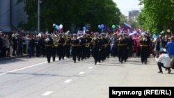 Первомайское шествие в Севастополе