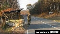 Чарнігаў мяжа Украіна Блёк-пост самаабароны перад Гасічаўкай