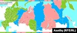 Карта новых 9 временных зон России