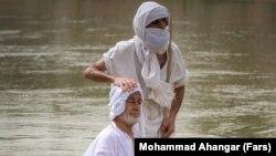 تصویری از مراسم تعمید منداییان در خوزستان در ۲۸ اسفند ۹۹