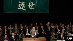 Синдзо Абэ выступает с требованием вернуть южные Курильские острова Японии. Февраль 2014 года