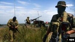 Ресейшіл сепаратистер. Луганск, 2 шілде 2014 жыл.