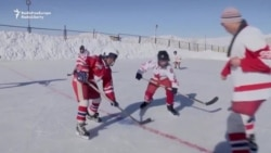 Kyrgyz Kids Chase Ice Hockey Dreams