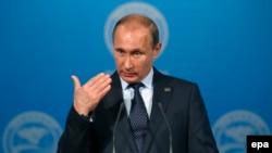 Володимир Путін на прес-конференції в Уфі, 10 липня 2015 року