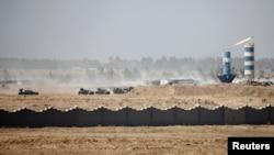Автомобілі сил безпеки Іраку у Фаллуджі, 17 червня 2016 року