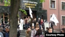 Пророссийские сеператисты захватили здание прокуратуры Донецкой области. Украина, 1 мая 2014 года.