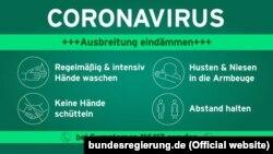 Măsuri de protecţie pentru îngrădirea răspîndirii coronavirusului (sursa: Guvernul german)