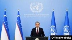 Президент Узбекистана Шавкат Мирзияев, 23 сентября 2020 года. Фото с сайта пресс-службы главы государства.