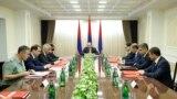 Armenia -- Prime Minister Nikol Pashinian holds a meeting of Armenia's Security Council, Yerevan, June 24, 2019.