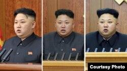 Ким Чен Ын во время новгодней речи