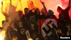 Spartak Moscow fans waved flags with Nazi swastikas at some previous soccer matches.