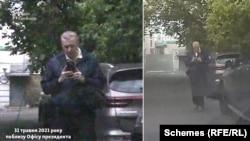 А така розмова відбулася у журналістів з іншим чоловіком, який також фотографував автівку знімальної групи – зі спалахом
