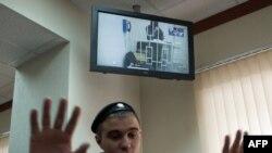 Судебное заседание, во время которого решается вопрос о законности ареста Шагида Губашева, обвиняемого по делу об убийстве Немцова.