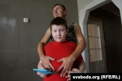 Сяргей Ісакаў з сынам Ігарам