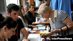 Voting in Georgia's municipal elections on May 30.