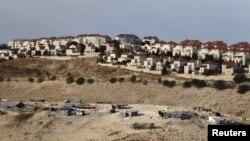نمایی از یک شهرک یهودی نشین در نزدیکی بیت المقدس (اورشلیم).
