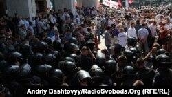 Акція протесту проти прийняття закону про мову, Київ, 4 липня 2012 року
