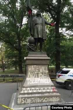 Колумб в Центральном парке Нью-Йорка