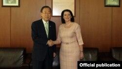 Susret Ban Ki Muna i predsednice Atifete Jahjage