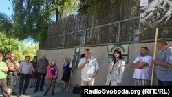 Протест под посольством Украины в Праге, Чехия, 8 мая 2016 год