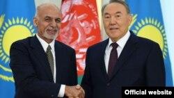 Қазақстан президенті Нұрсұлтан Назарбаев пен Ауғанстан президенті Ашраф Ғани. Астана, 20 қараша 2015 жыл.