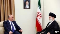 حیدرالعبادی، نخست وزیر عراق، در دیدار با رهبر جمهوری اسلامی ایران
