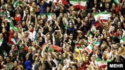 In the past, women in Iran had been allowed to attend some male volleyball and basketball games. Last year, however, they were banned from entering sports stadiums to watch men's volleyball. (file photo)
