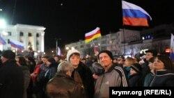 У Сімферополі відзначають річницю анексії Криму «Кримську весну»