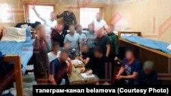 Вязьні ізалятару ў Жодзіне, фота чытача тэлеграм-каналу belamova