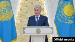 Бірқатар мемлекеттің елшілерінен сенім грамоталарын қабылдау рәсімі кезінде сөйлеп тұрған президент Қасым-Жомарт Тоқаев. 8 қыркүйек 2021 жыл.