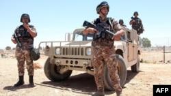 Иорданские военнослужащие на посту. Иллюстративное фото.