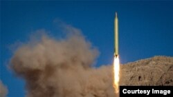 Official photo of an Iranian missile test in June 2017.