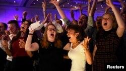 Միացյալ Թագավորություն, Շոտլանդիա - Անկախացման հակառակորդները ողջունում են հանրաքվեի նախնական արդյունքները, Գլազգո, 19-ը սեպտեմբերի, 2014թ․