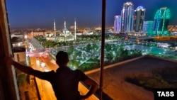 Вид на центр Грозного