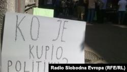 "Protest radnika ""Politike"", foto: Ognjen Zorić"