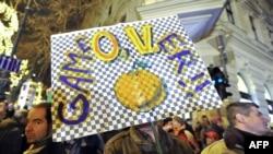 Budimpešta: Protesti protiv vlade Viktora Orbana i novog ustava, januar 2012.