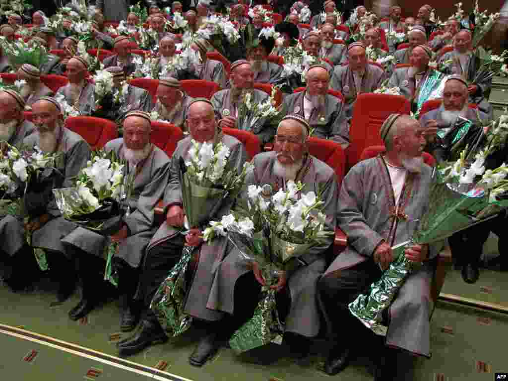 Delegates of Turkmenistan's Council of Elders attend a congress in Dashoguz, where President Gurbanguly Berdymukhammedov delivered an address advocating a multiparty system. Photo by AFP